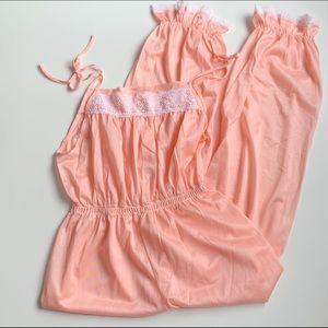 NWOT peachy pink onesie jumpsuit